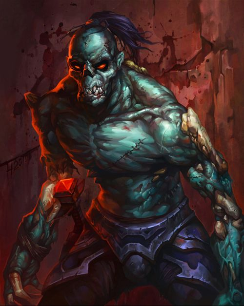 Lu Hua illustrations concept arts fantasy games Undead rogue
