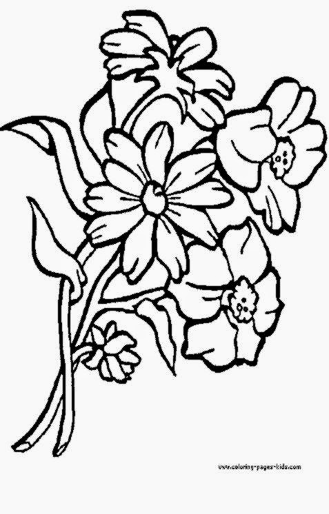 bouquet of roses coloring pages - pictures of flowers to color free coloring sheet