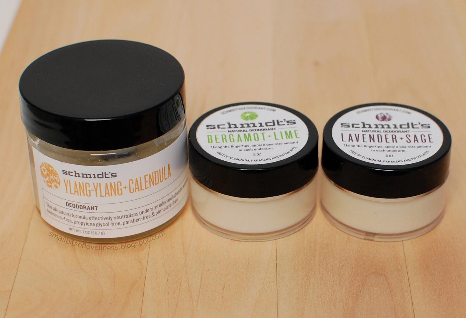 Schmidt's Deodorant Ylang-ylang + Calendula, Lavender + Sage, Bergamot + Lime