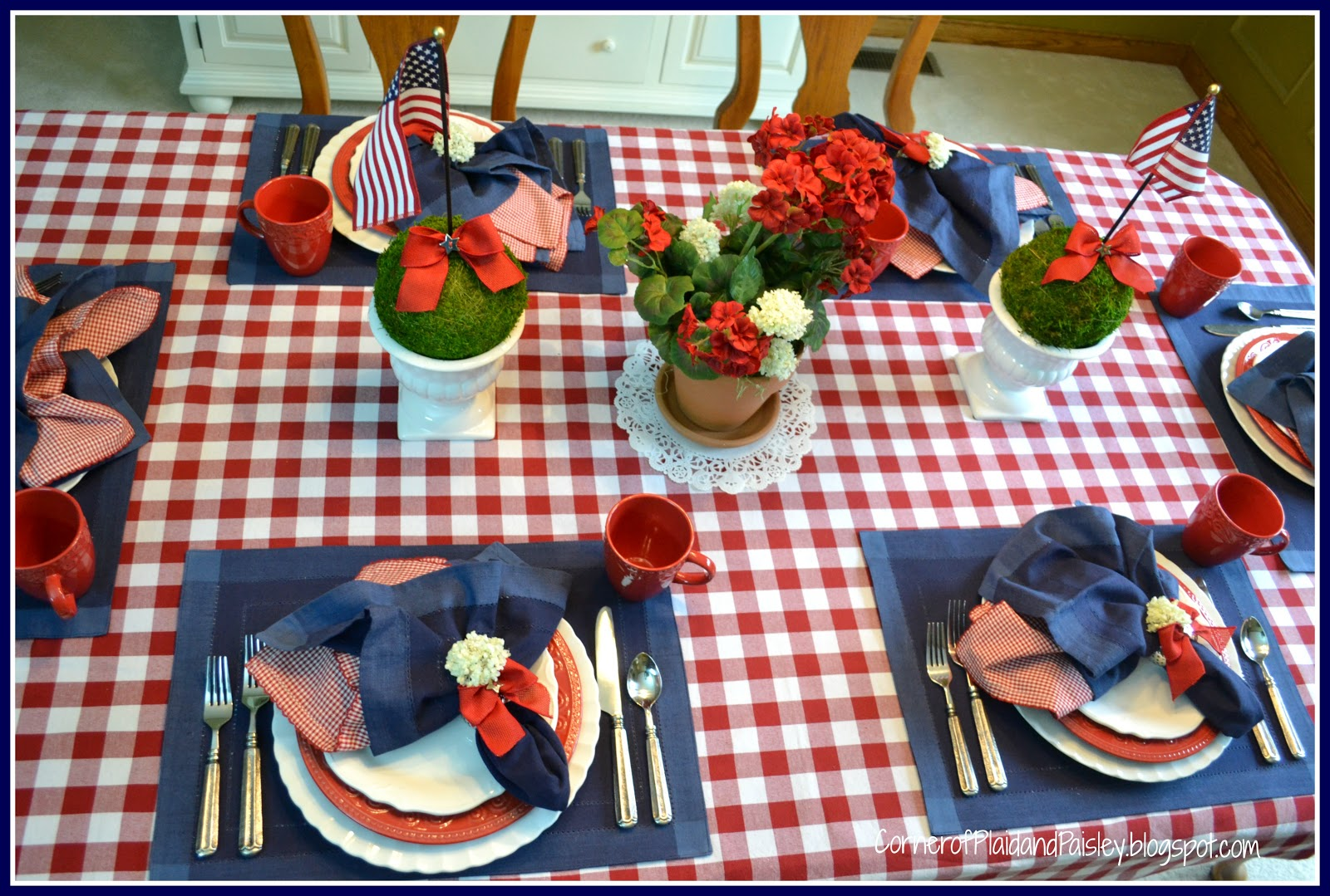 ... picnic Corner of plaid and paisley memorial day table setting 2013 friday may 24 2013 watchthetrailerfo ... & Picnic Table Setting Image collections - Table Decoration Ideas