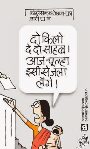 congress cartoon, election 2014 cartoons, election cartoon, poverty cartoon, voter, cartoons on politics, indian political cartoon