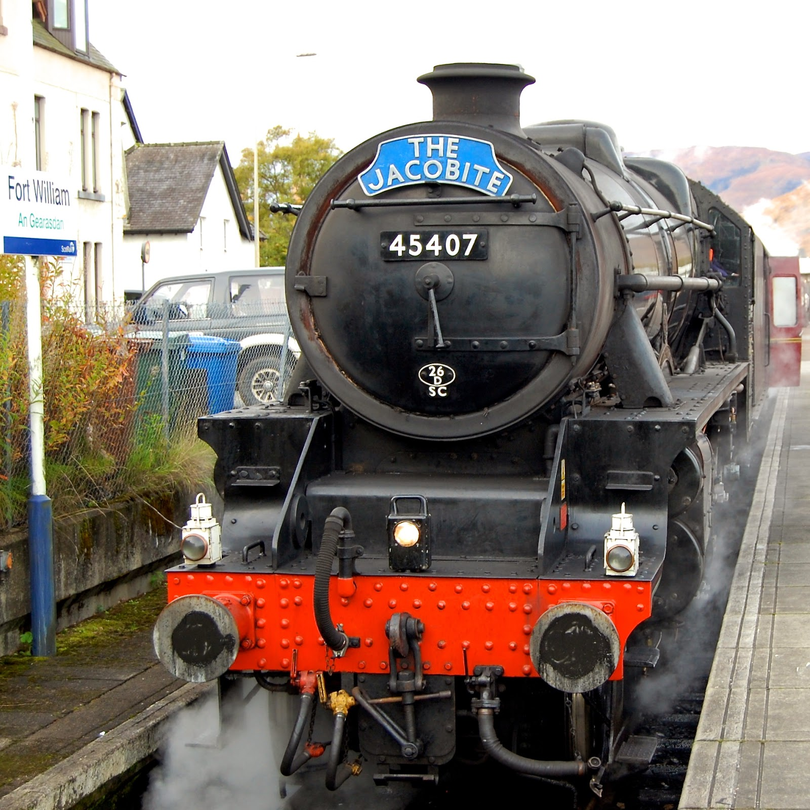 "Jacobite Steam Train, also known as the ""Hogwarts Express"""
