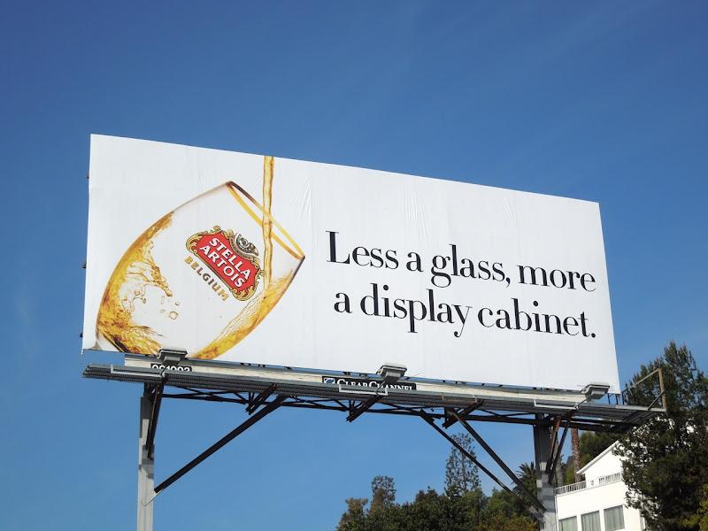 Less glass more display cabinet Stella Artois billboard