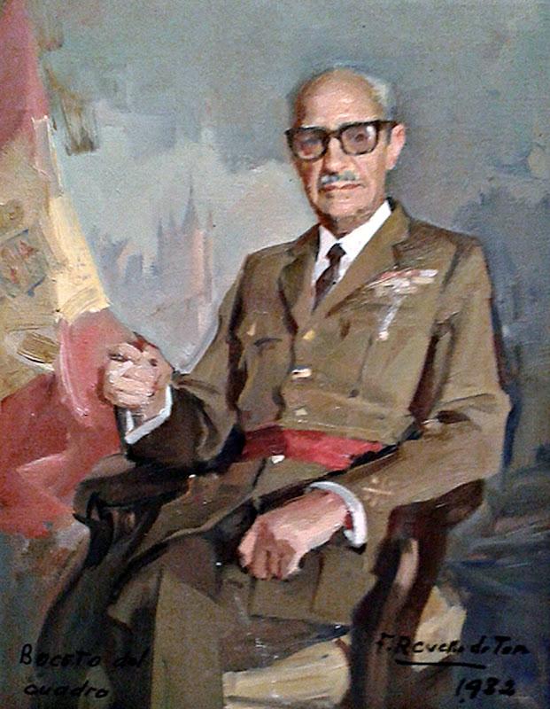 Retrato del General Gutiérrez Mellado, Félix Revello de Toro, Retratos de Revello de Toro,  Pintor español