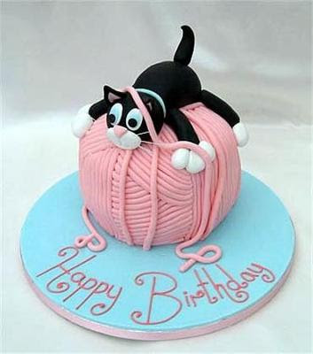 Unique cat birthday cakes