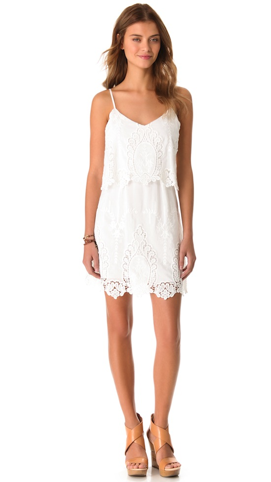 Dolce Vita White Embroidered Jeralyn Dress from Shopbop Spring 2013