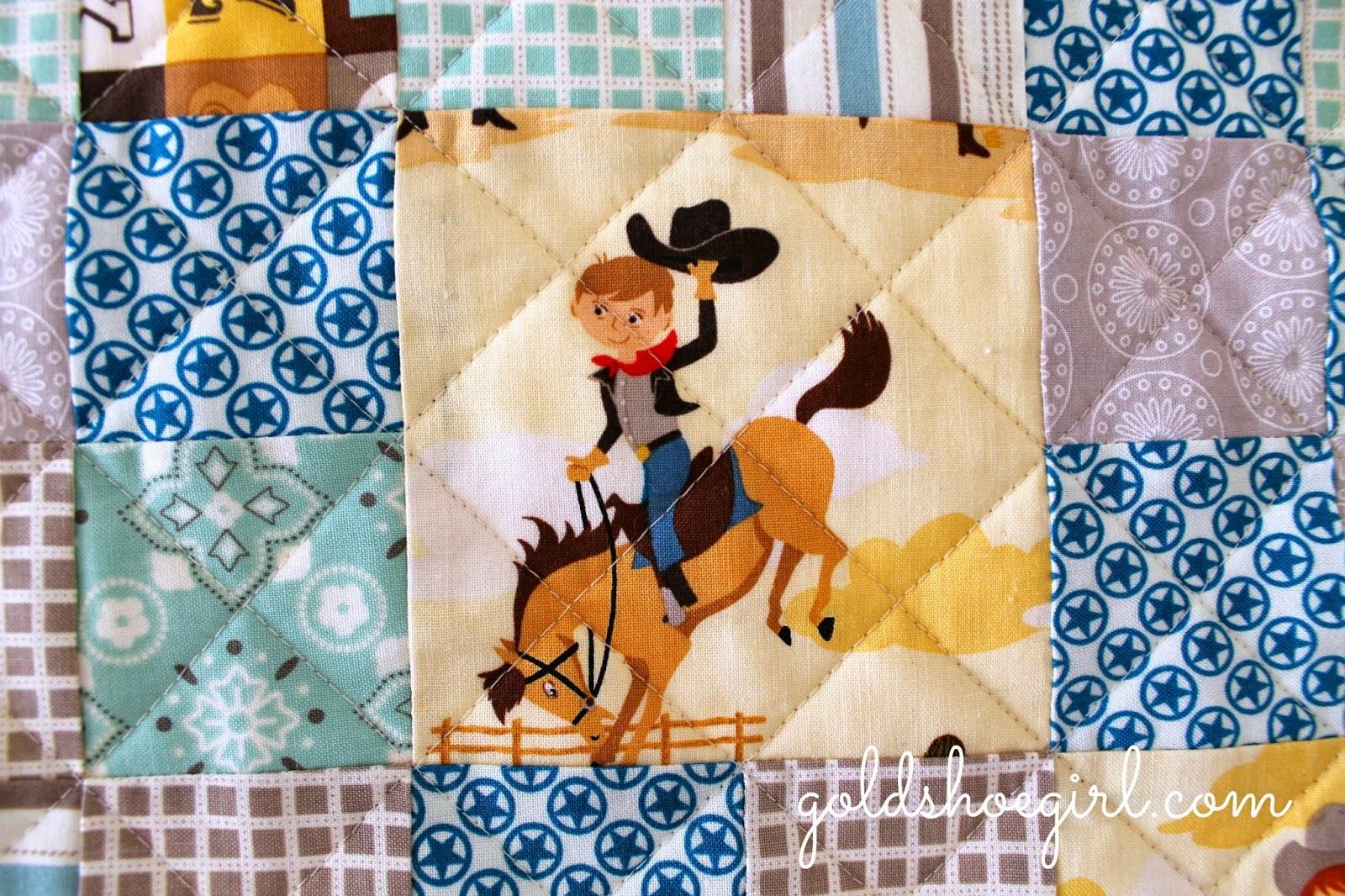Gold Shoe Girl: Cowboy Patchwork Quilt : cowboy quilt - Adamdwight.com