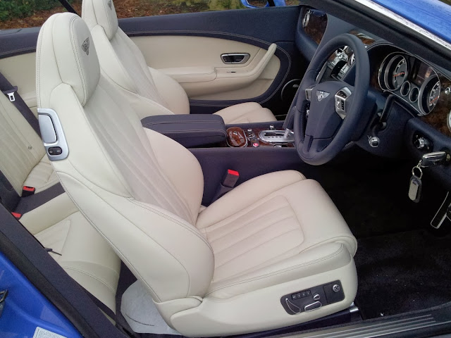 Bentley Continental GTC W12 convertible interior