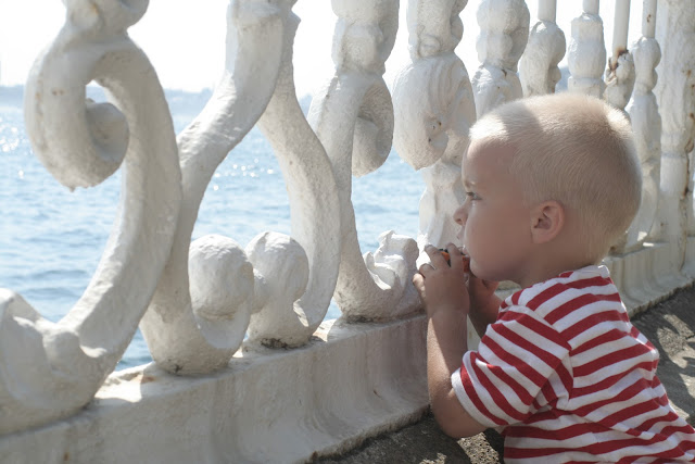 Anton watching boats on the Bosphorus