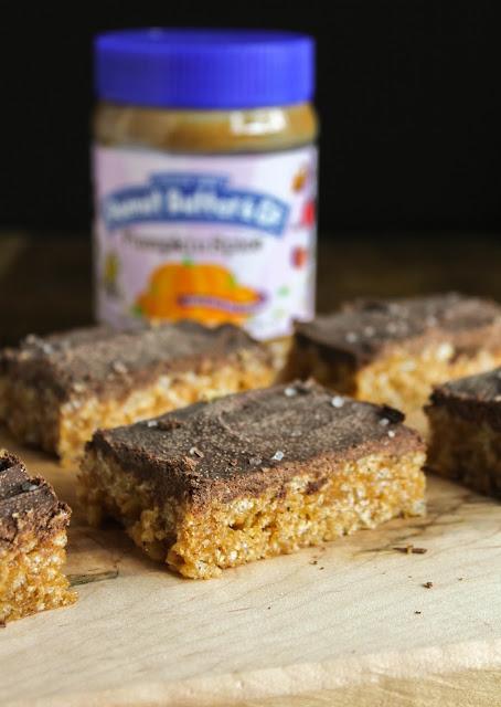 Pumpkin Spice Peanut Butter Bars | The Chef Next Door