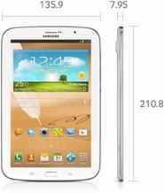 Dimensi Samsung Galaxy Note layar 8 inch