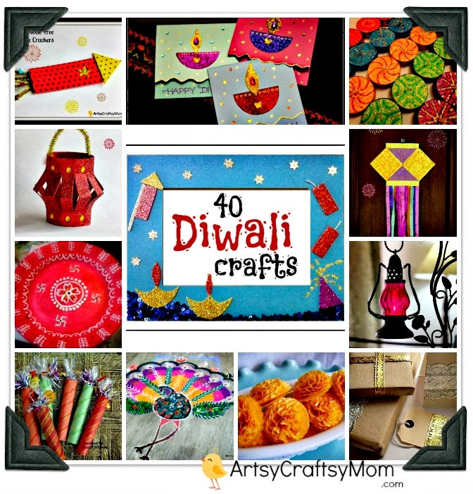 Diwali card ideas for Art and craft for diwali decoration