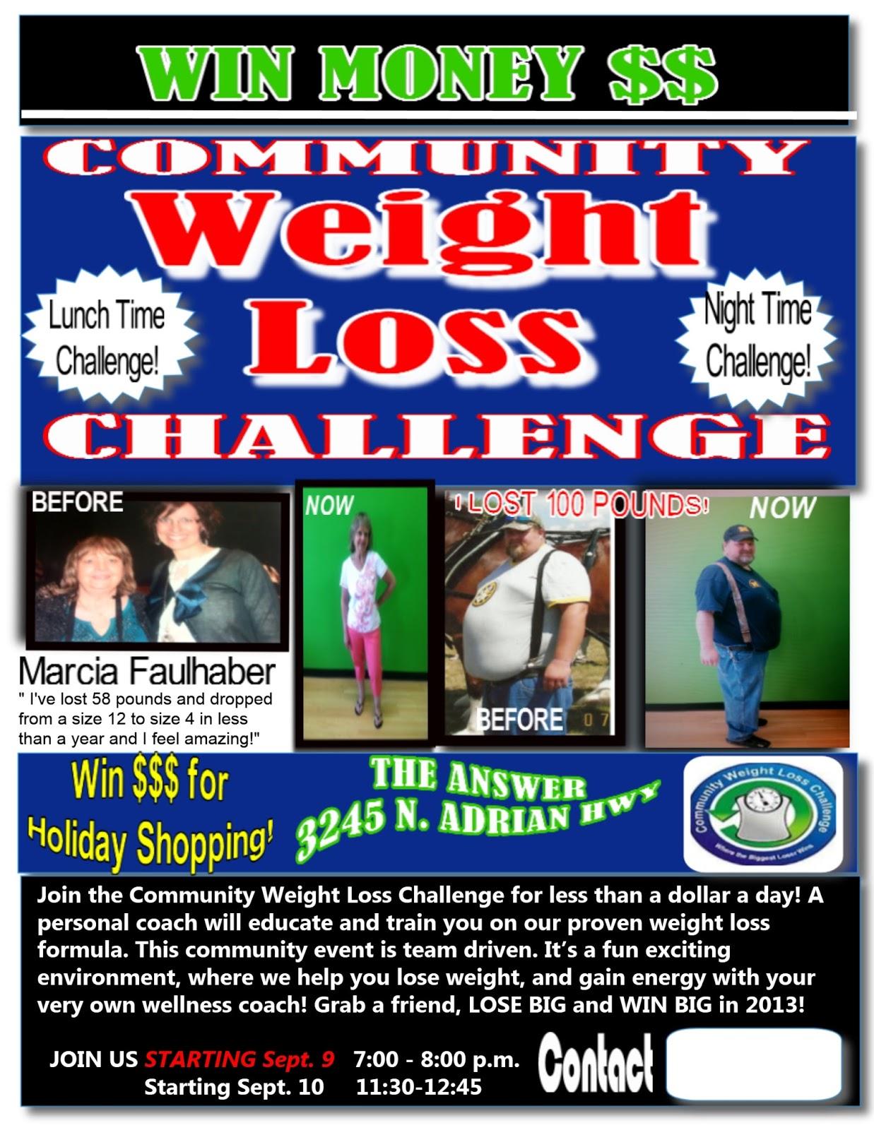 september weight loss challenge flyer