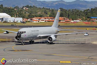 Boeing KC-767 Júpiter de la Fuerza Aérea Colombiana.