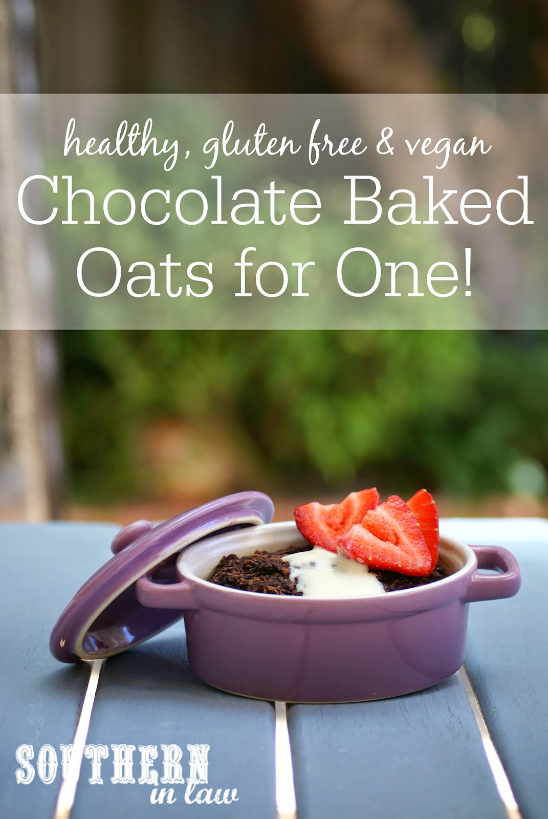Healthy Chocolate Baked Oats Recipe - low fat, gluten free, sugar free, vegan, healthy