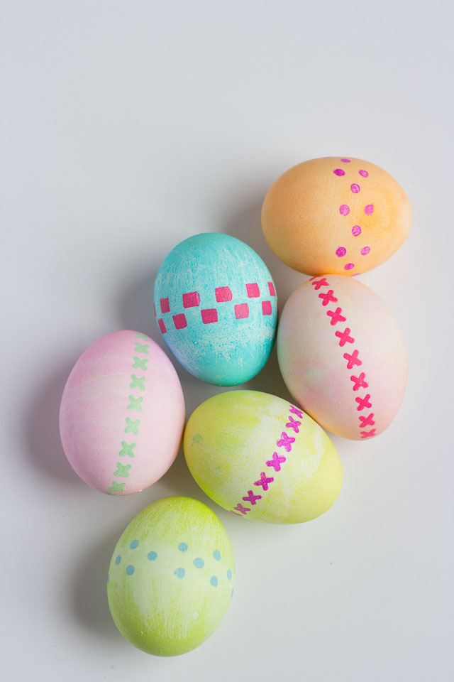 Stenciled Easter Eggs Design Improvised