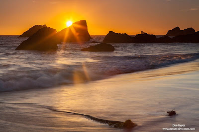 Sunset at Harris Beach along the Oregon coast, Oregon, USA.