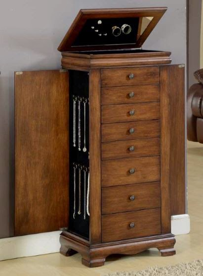 Locking Jewelry Armoire for Her Prized Gems
