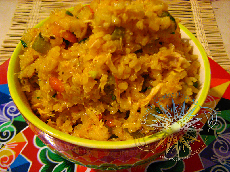 Cocina costarricense arroz guacho