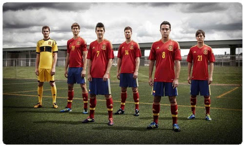 Named the national team of Spain advanced to the World Cup - in 2014
