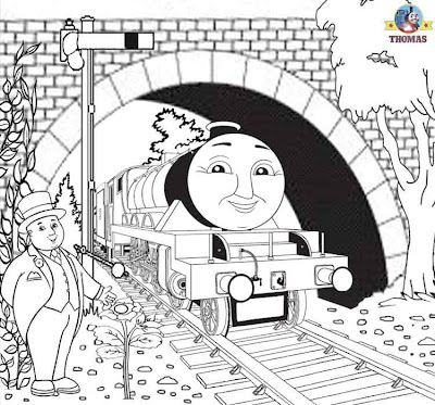 Art lesson printable cool things to do for older kids coloring Thomas and friends Henry tank engine
