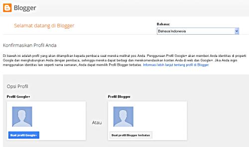 Opsi Profile Blogger