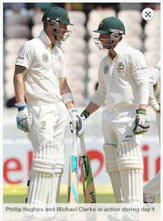 Phillip-Hughes-Michael-Clarke-IND-v-AUS-2nd-Test
