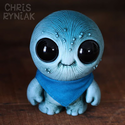 Designer Con 2015 Exclusive Blueberry Bandit Grubthum Resin Figure by Chris Ryniak