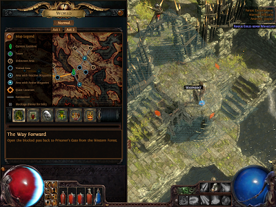 Path of Exile - World Map Legend