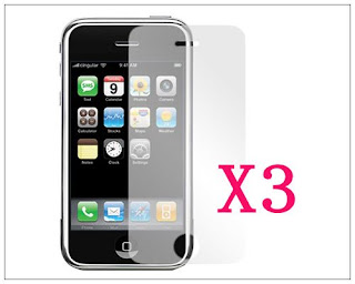 3X LCD Screen Protector Film For Apple iPhone 3G 3Gs A1