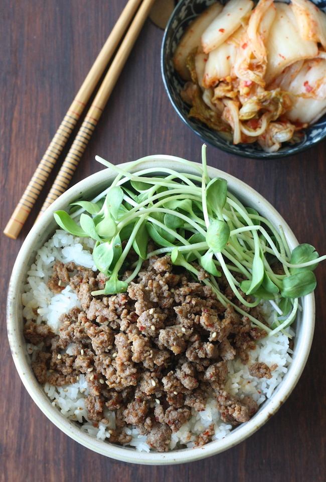 Easy Korean Beef Rice Bowl recipe by SeasonWithSpice.com