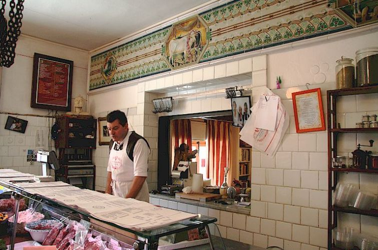 Dario Cecchini in his butchers shop in Panzano in Chianti