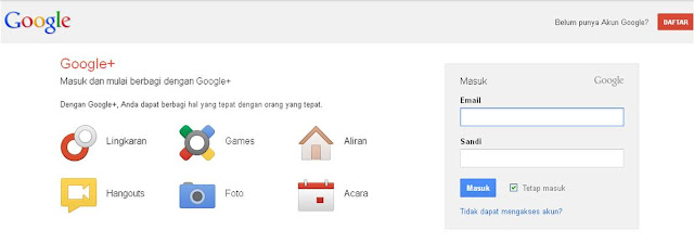 Login Google Plus