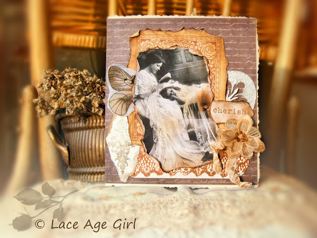 vintage mothers card