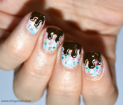 Chocolate drip nails