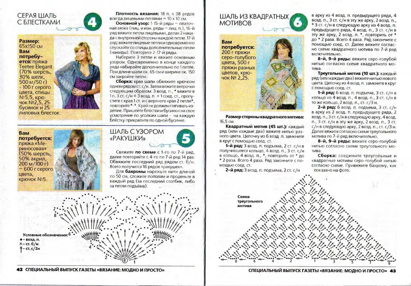 Вязание простые шали 31