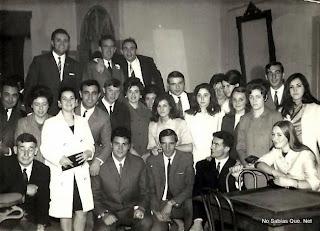 Invitados de boda en Candelario Salamanca en 1968