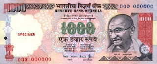 Indian 1000 rupees