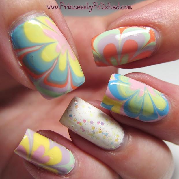 princessly polished pastel flowery