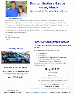 Lets Get Acquainted Special Auto Repair Grand Junction