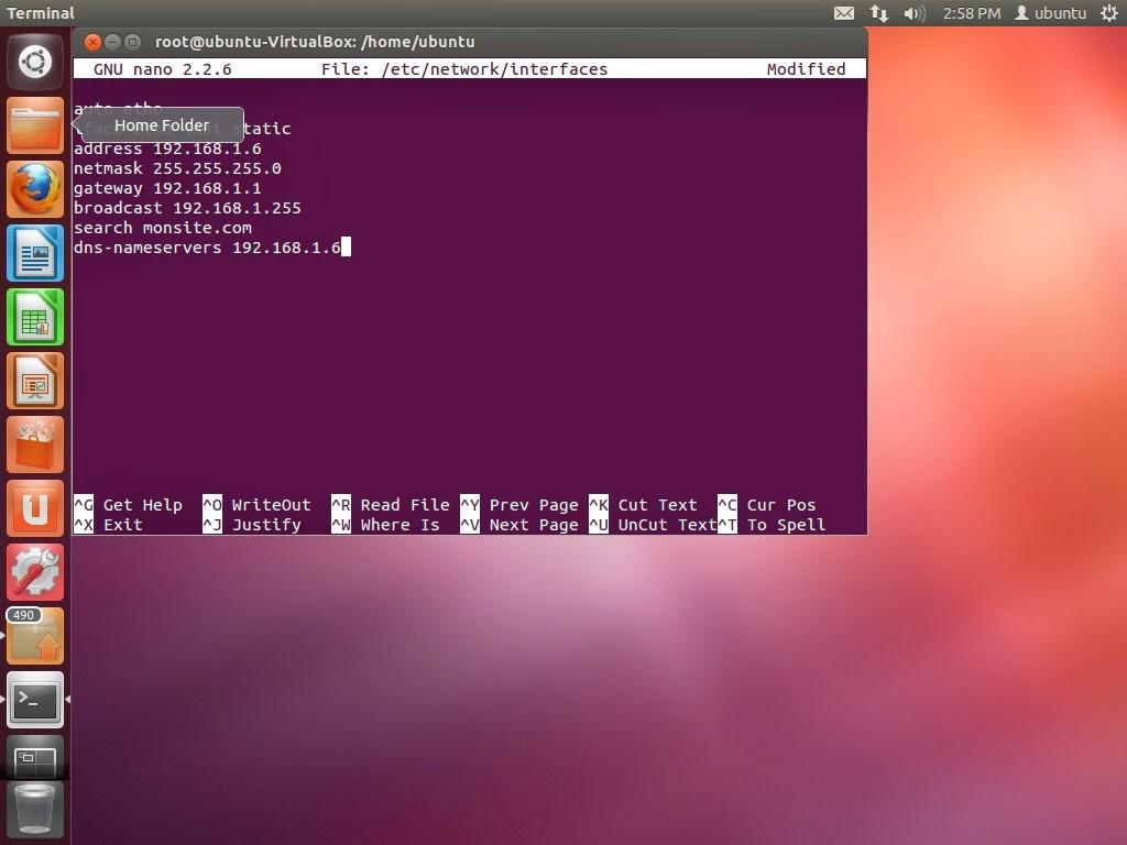 comment installer dns sur ubuntu