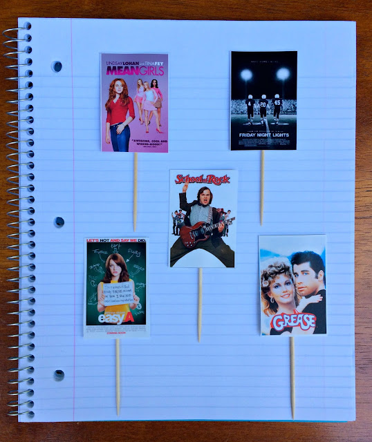 Back to School Movie Poster Cupcakes