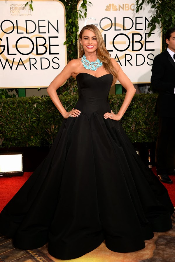 2014 Golden Globes Sofia Vergara in Zac Posen