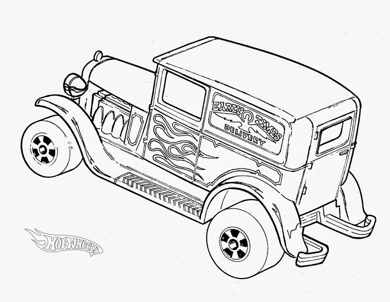 Hot Wheels Racing League: Hot Wheels Coloring Pages - Set 3