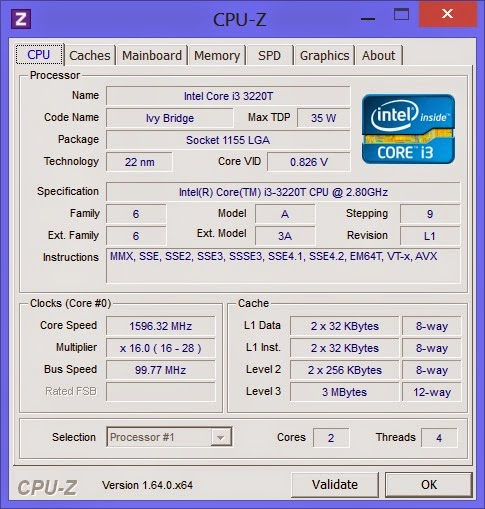 характеристики CPU