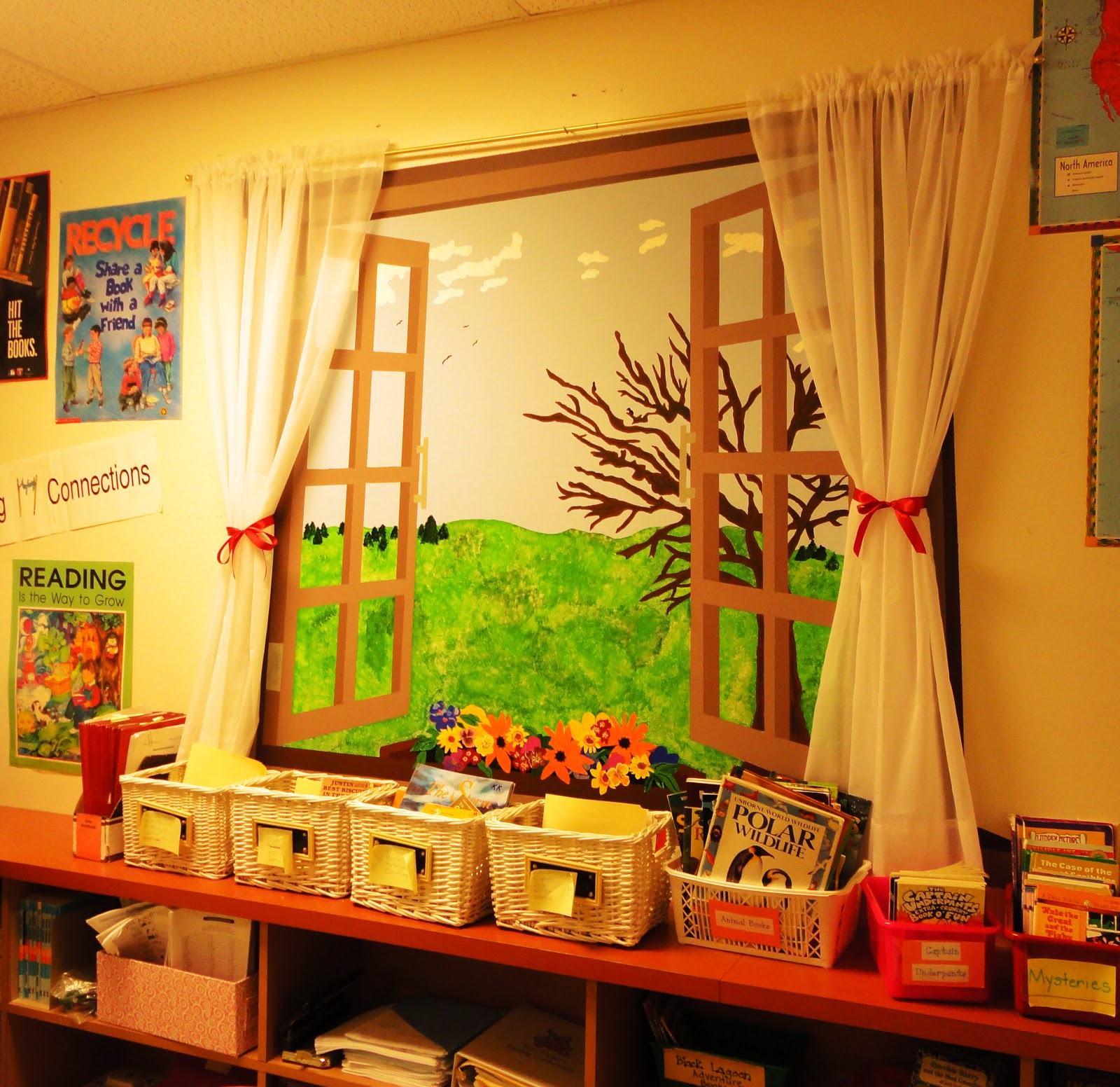 Classroom Window Decor ~ First grade spies classroom decorations to brighten your
