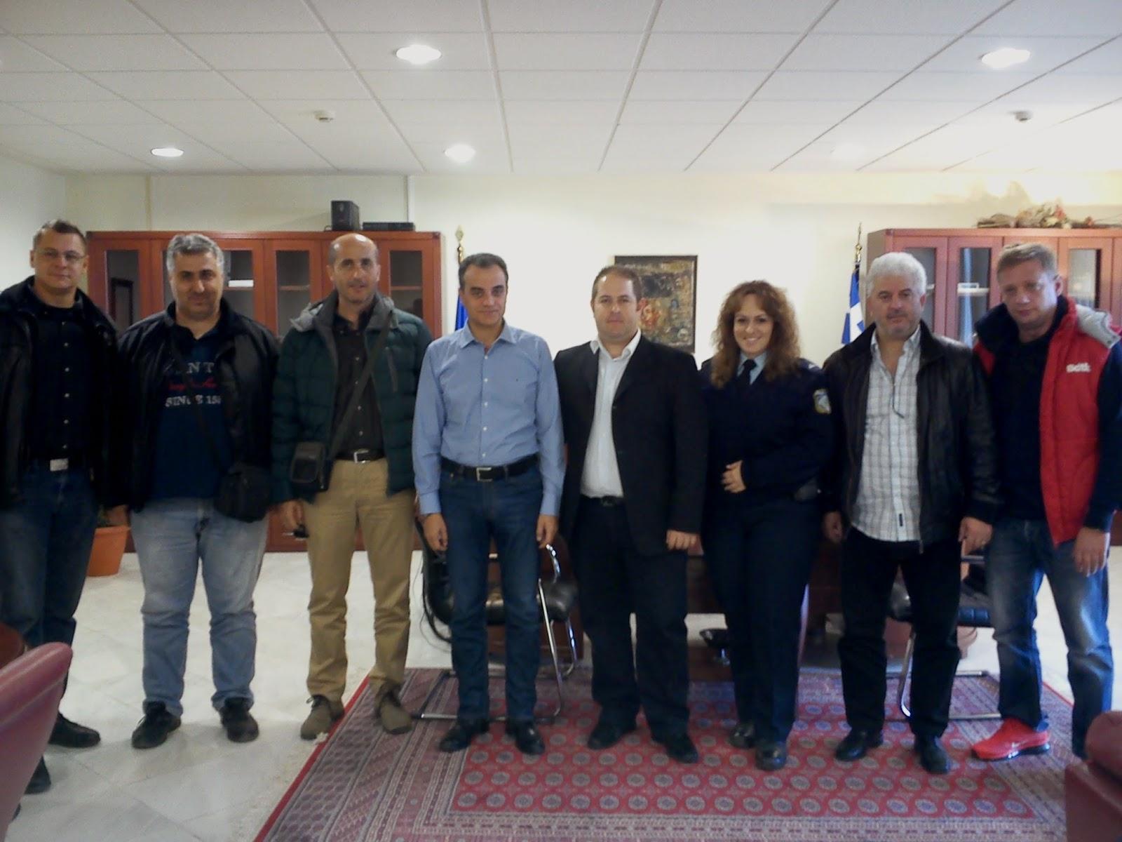 Συνάντηση Περιφερειάρχη Δυτικής Μακεδονίας  με την Ένωση Αστυνομικών Υπαλλήλων Π.Ε. Κοζάνης