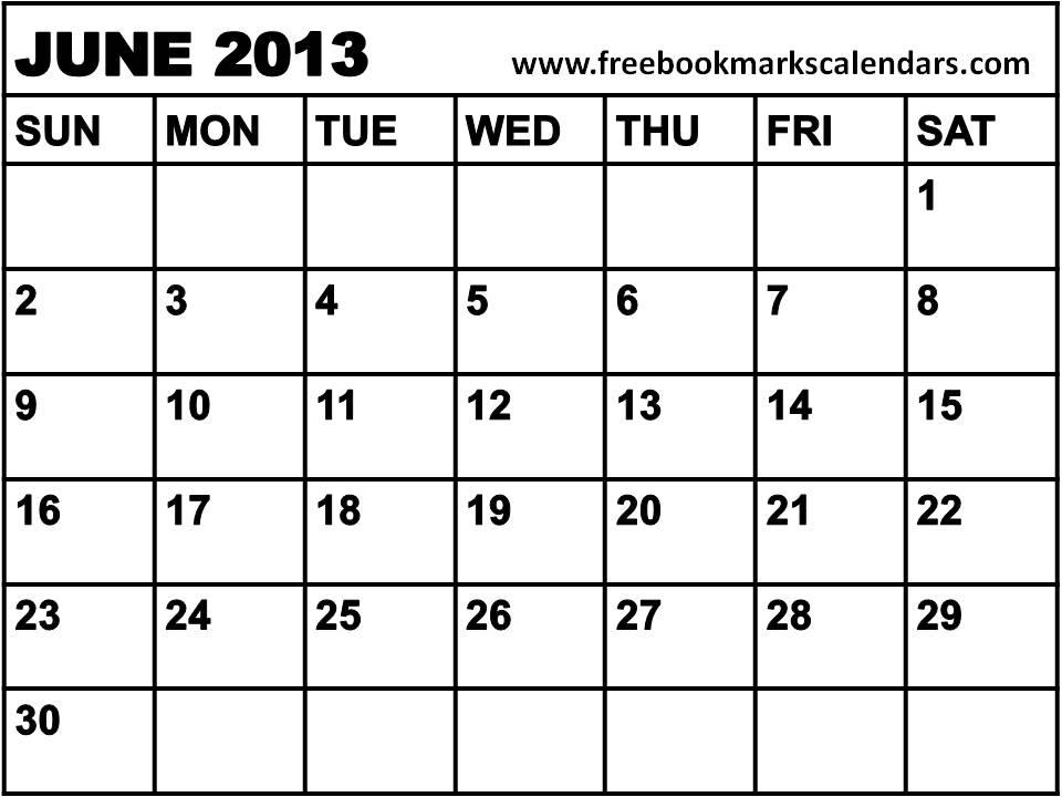 Printable Calendars 2015: Planner 2013 June / Blank Calendar 2013 June ...