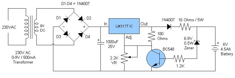 6V+4.5AH+Battery+Charger+Circuit electronics circuit application 6v 4 5ah battery charger circuit \u003e\u003e Battery Charger Schematic Diagram at suagrazia.org