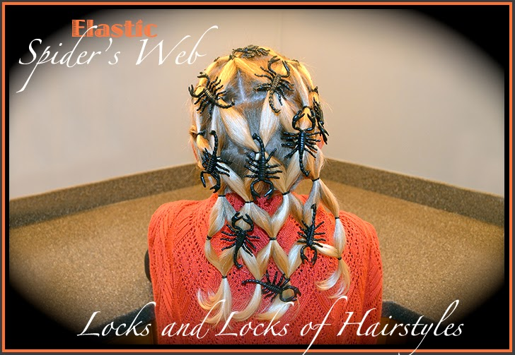 ... : Quick and Easy Video Tutorials: Halloween Hairstyle: Spider Web